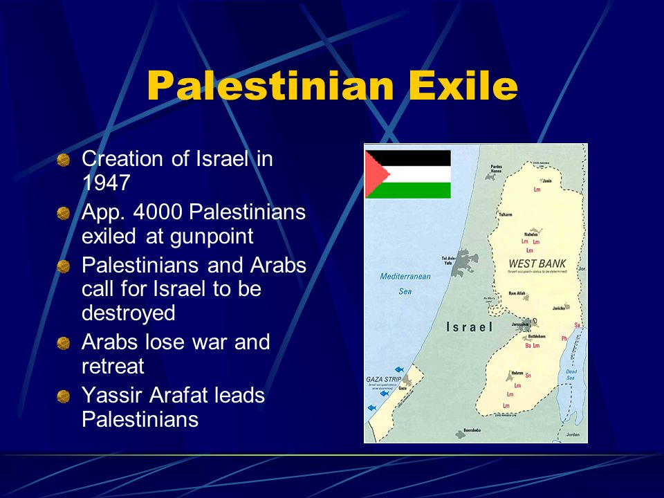 Palestinian Exile Creation of Israel in 1947