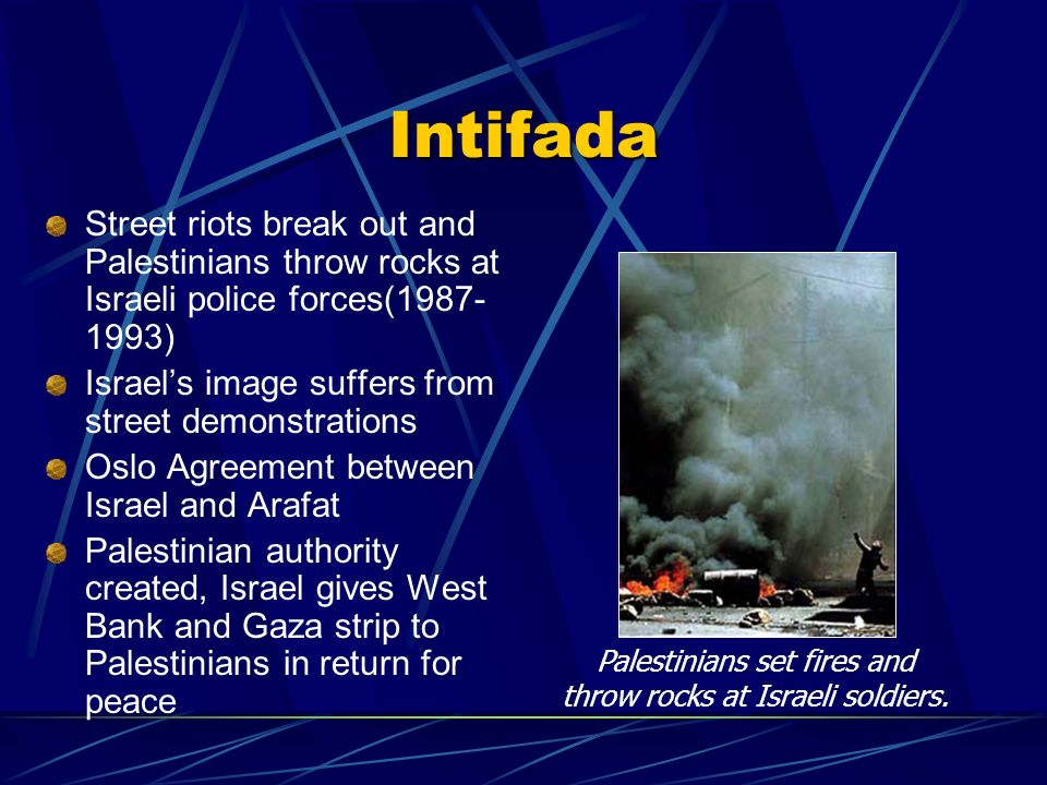 Palestinians set fires and throw rocks at Israeli soldiers.
