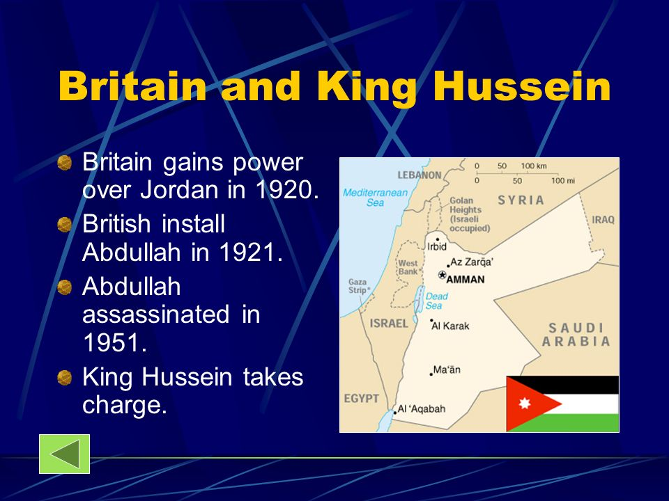 Britain and King Hussein