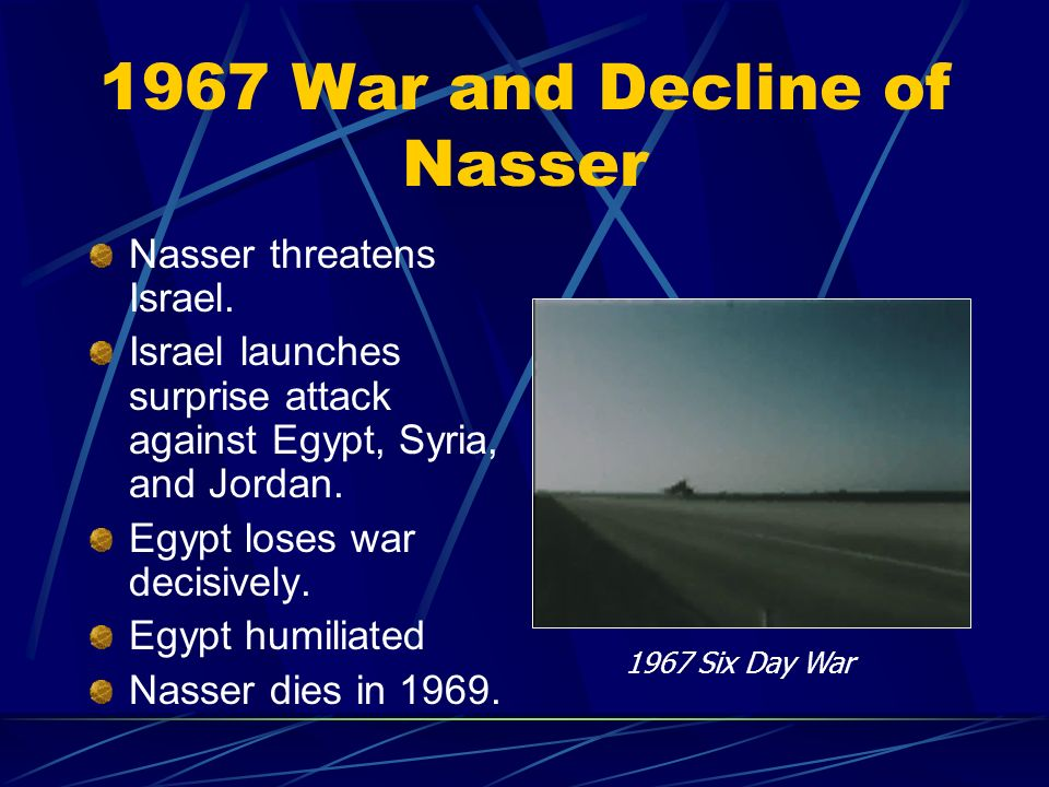 1967 War and Decline of Nasser