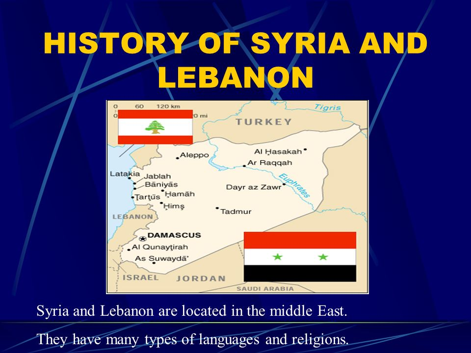 HISTORY OF SYRIA AND LEBANON