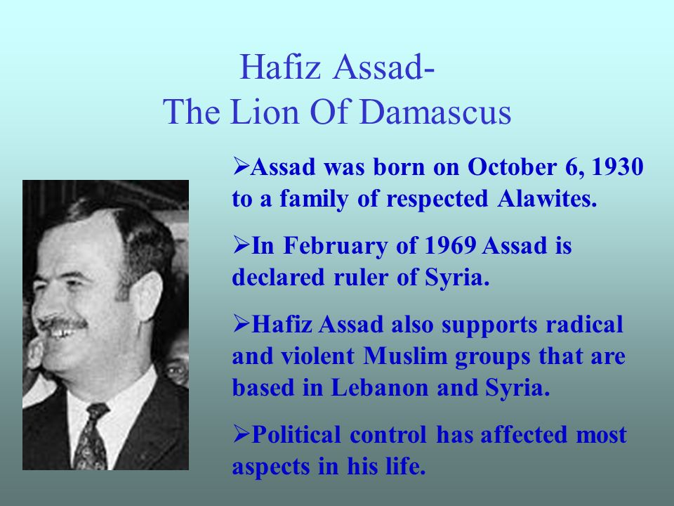Hafiz Assad- The Lion Of Damascus