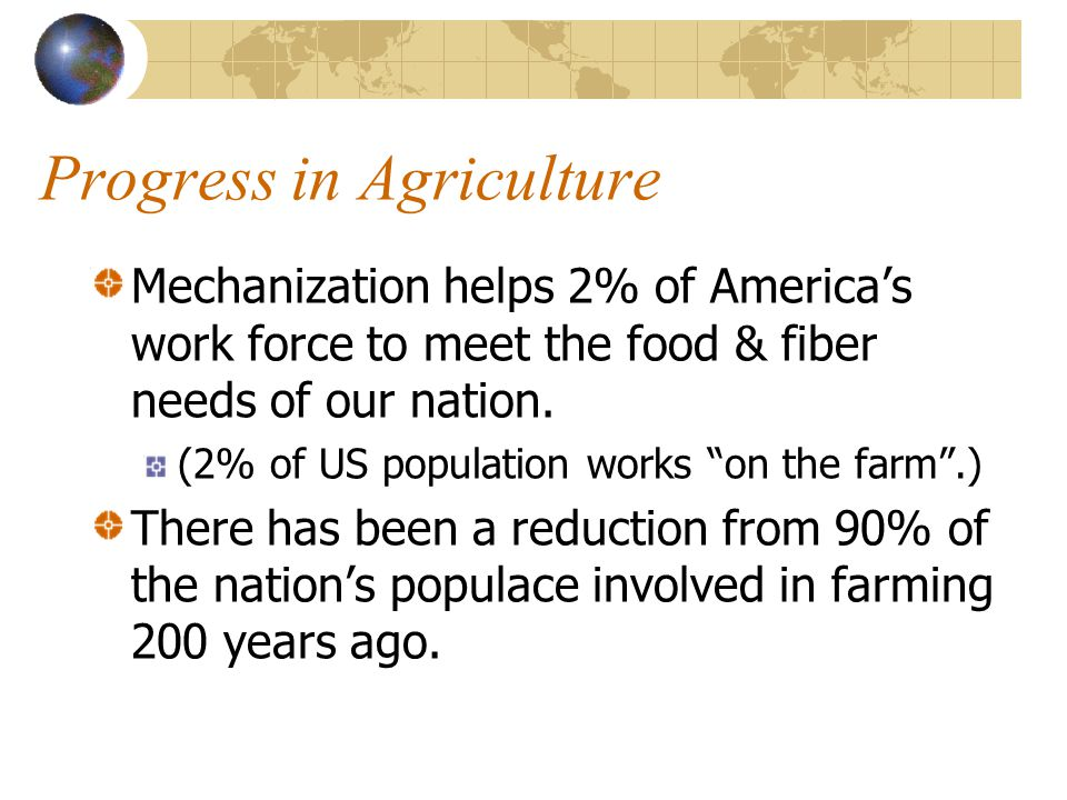 Progress in Agriculture