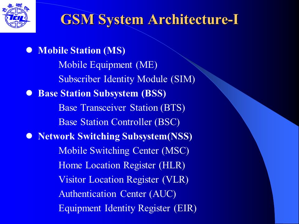 GSM System Architecture-I