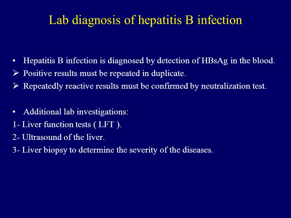 Lab diagnosis of hepatitis B infection