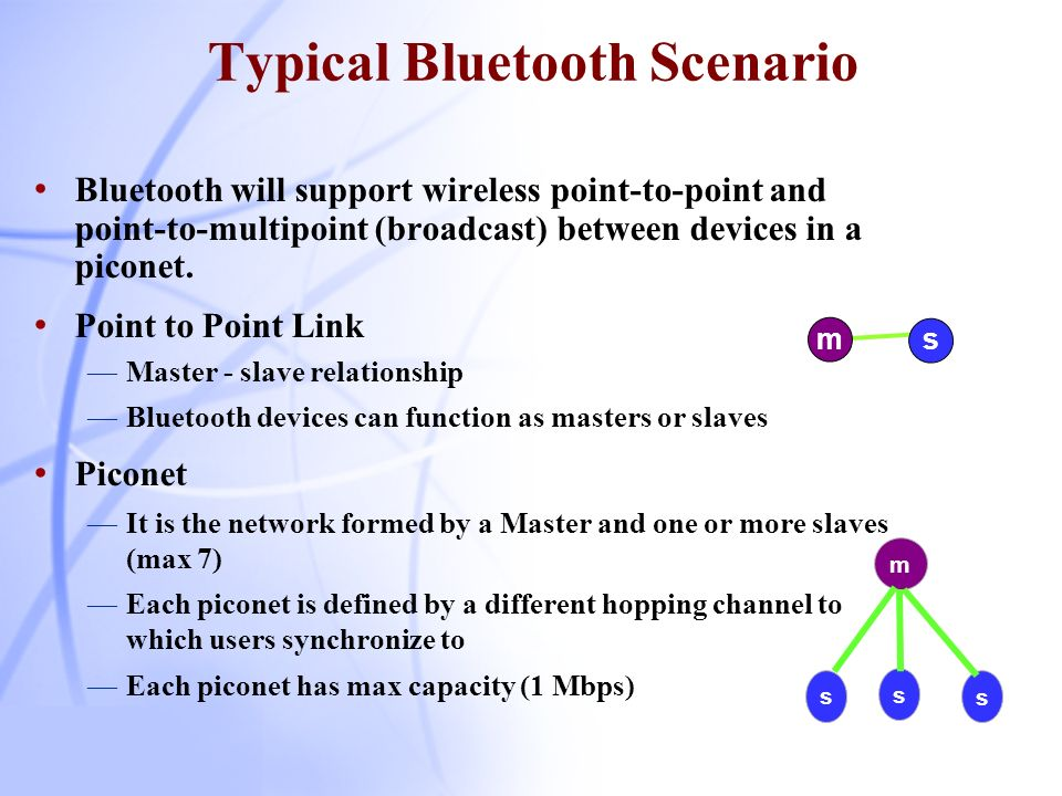 Typical Bluetooth Scenario
