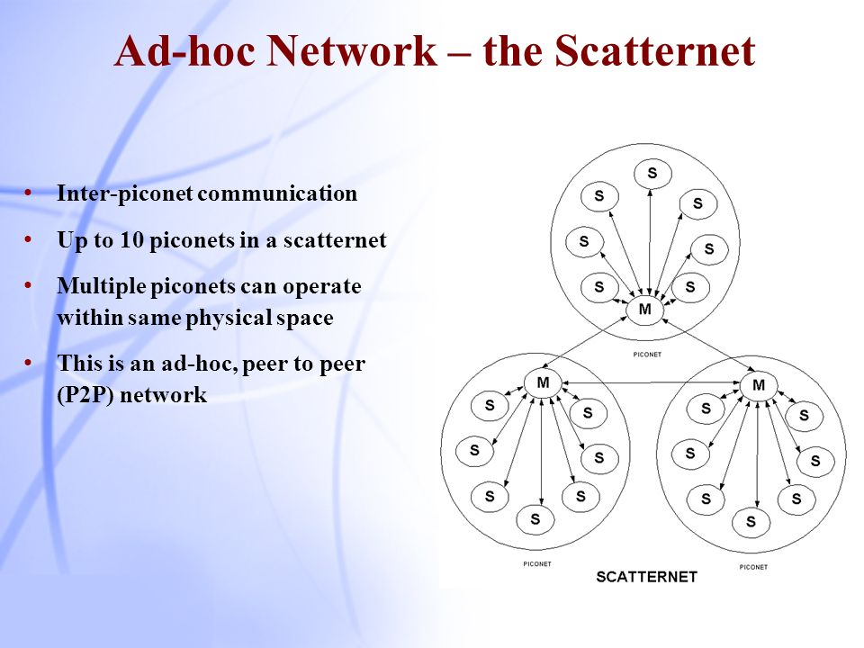 Ad-hoc Network – the Scatternet