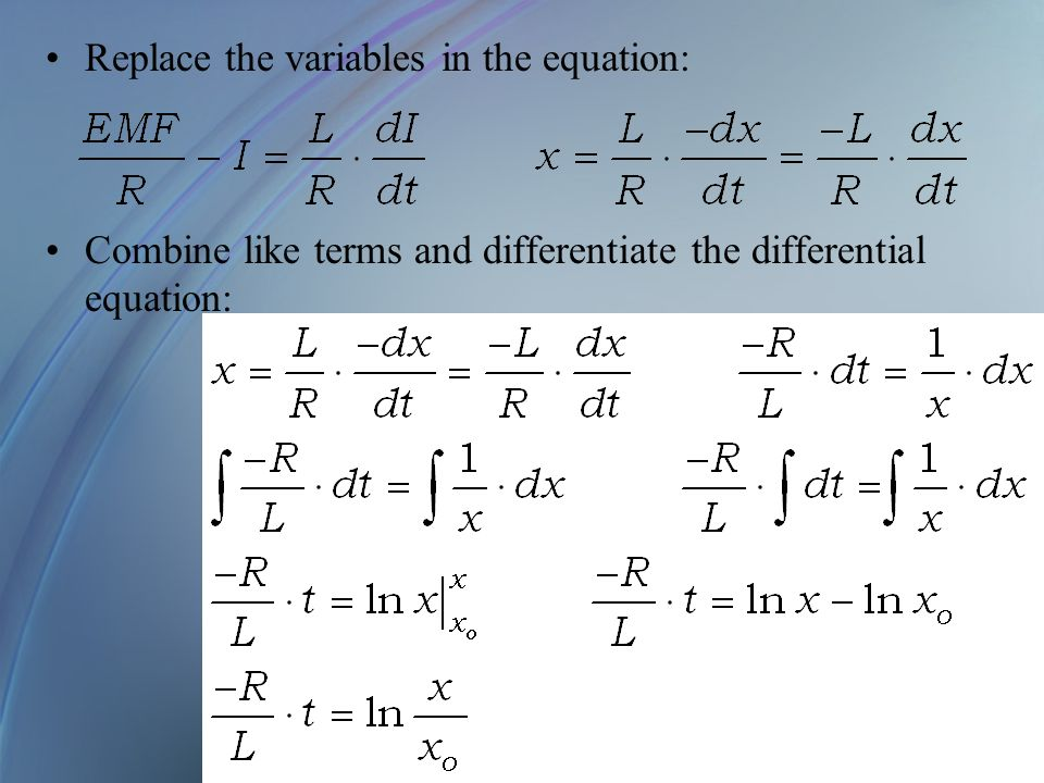 Replace the variables in the equation: