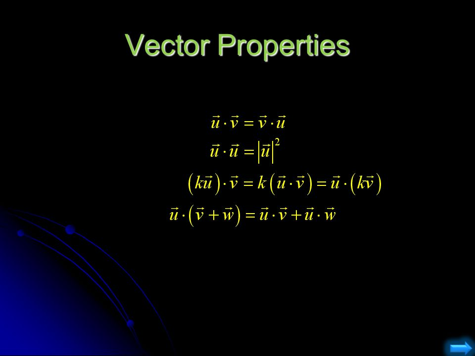 Vector Properties