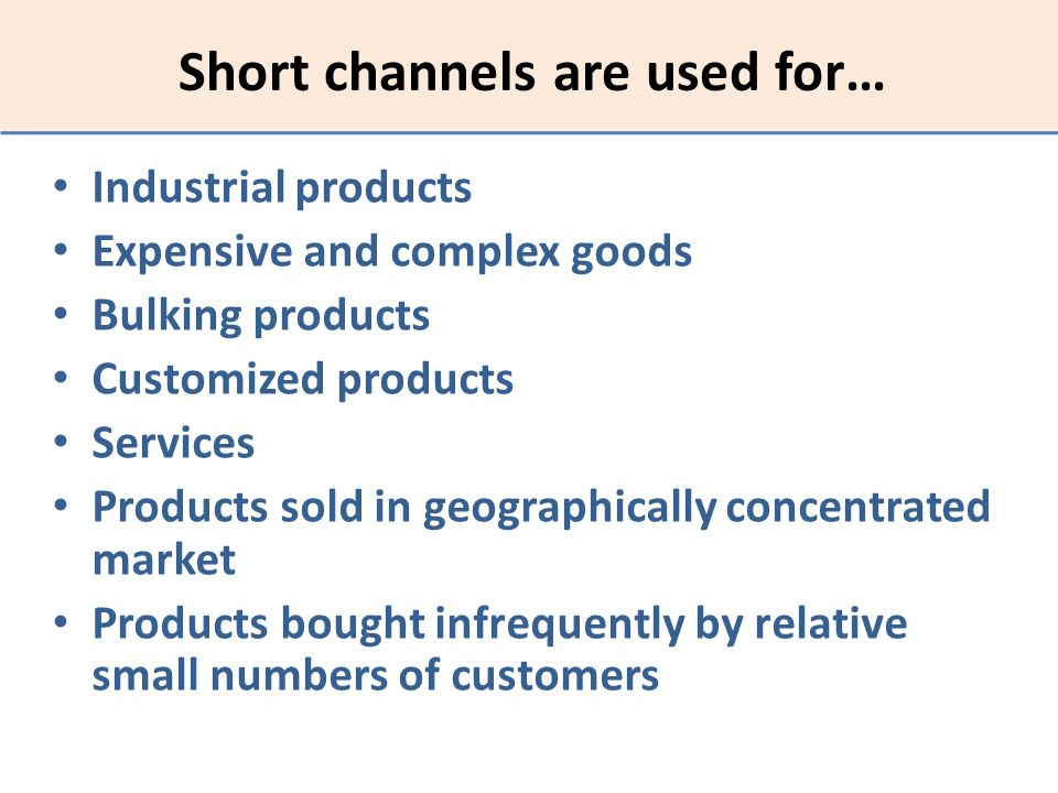 Short channels are used for…