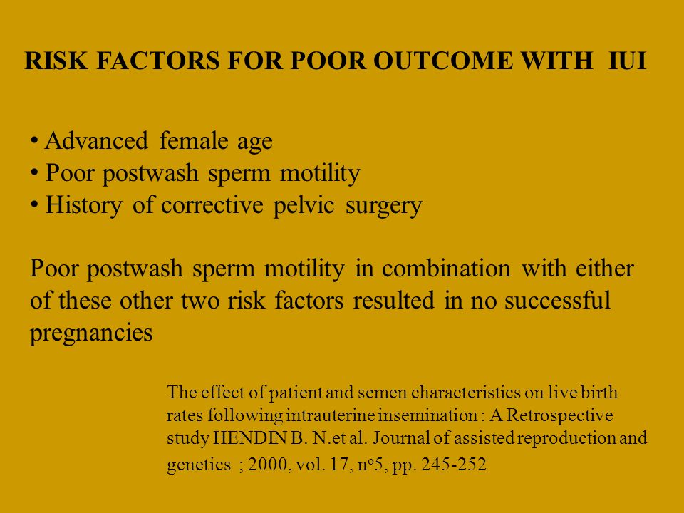RISK FACTORS FOR POOR OUTCOME WITH IUI