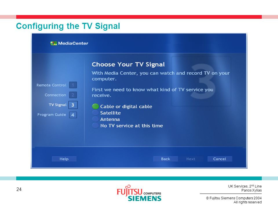Configuring the TV Signal