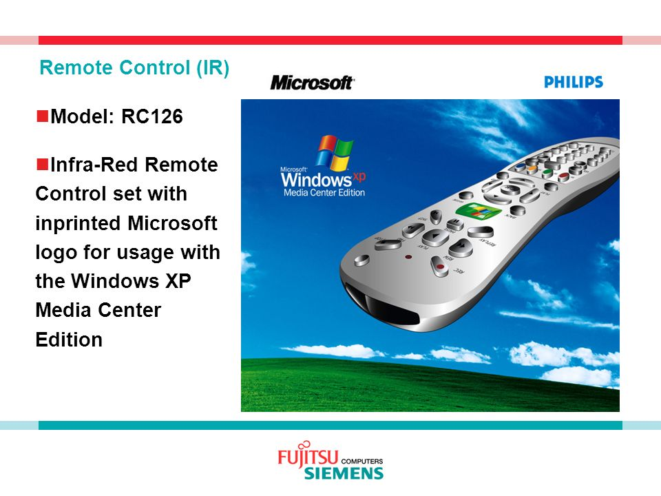 Remote Control (IR) Model: RC126.