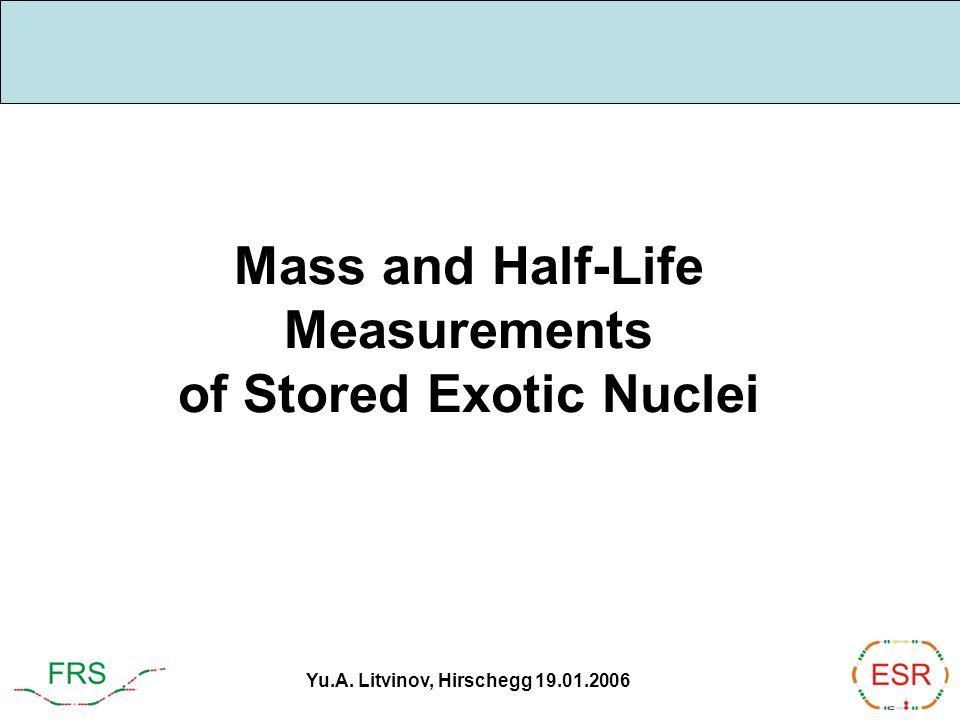 Mass and Half-Life Measurements of Stored Exotic Nuclei