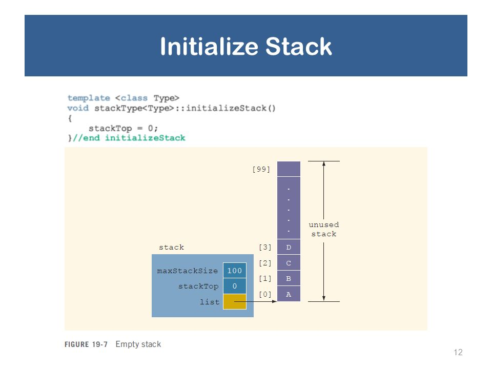 Initialize Stack