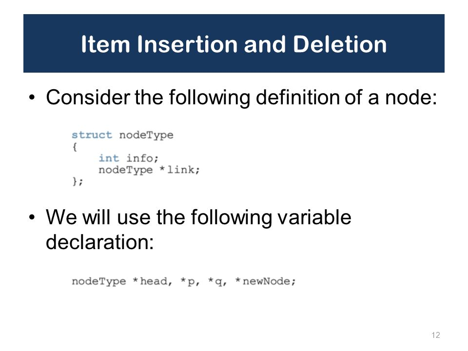 Item Insertion and Deletion