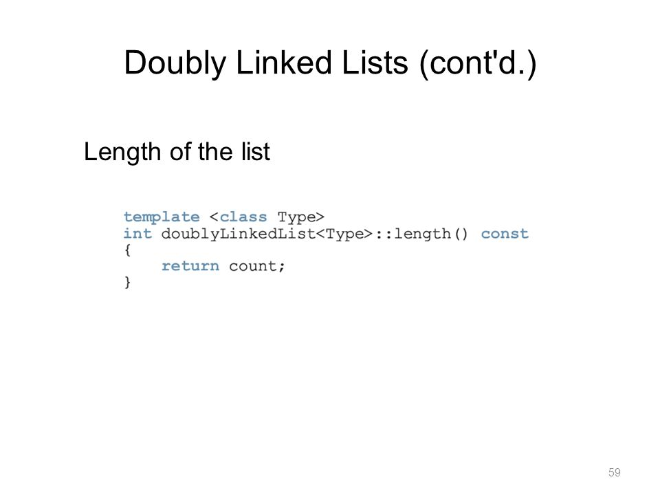 Doubly Linked Lists (cont d.)