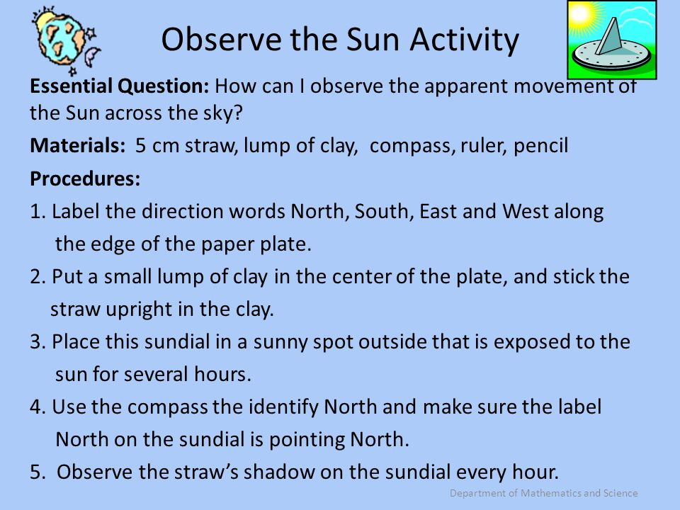 Observe the Sun Activity