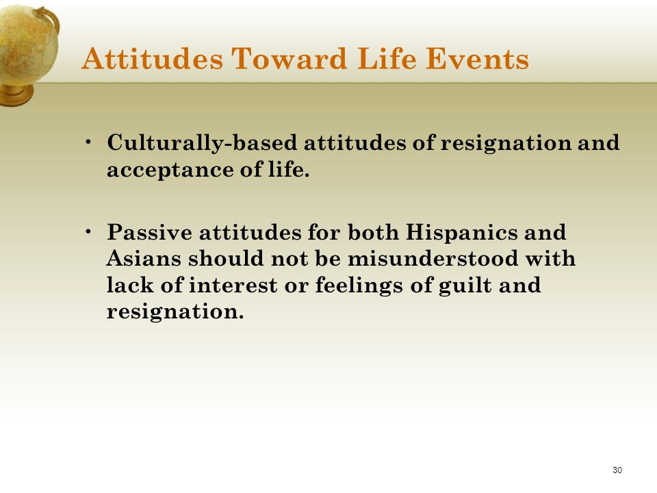 Attitudes Toward Life Events
