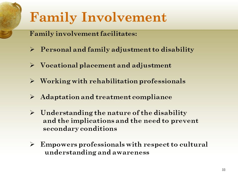 Family Involvement Family involvement facilitates: