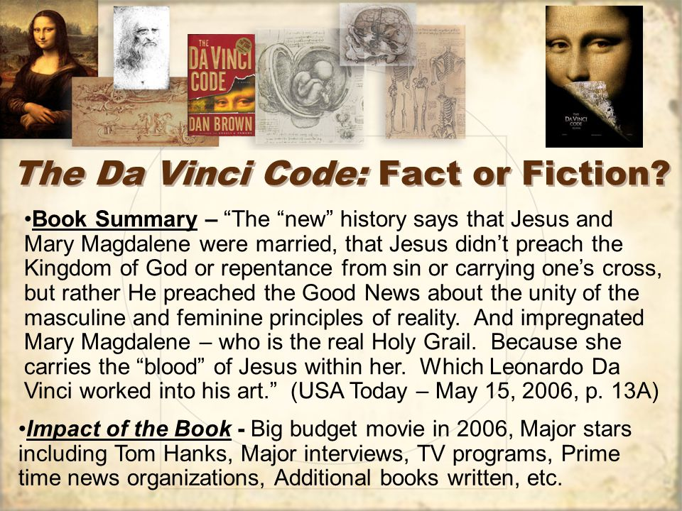 essay questions da vinci code The da vinci code is creation of dan brown's mental regime or a fact it is for the people to decide whether these theories belong to brown's imagination or the skeleton of 'facts' that supports the book.