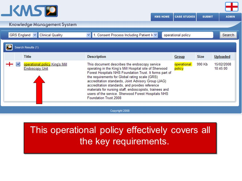 This operational policy effectively covers all the key requirements.