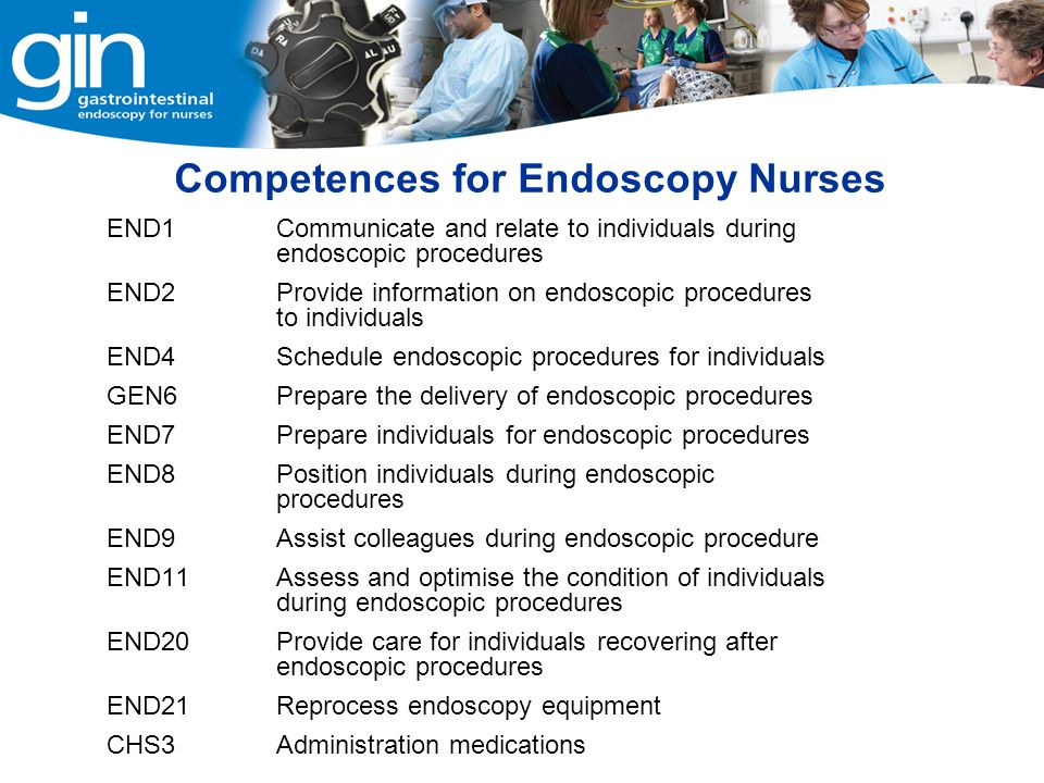 Competences for Endoscopy Nurses
