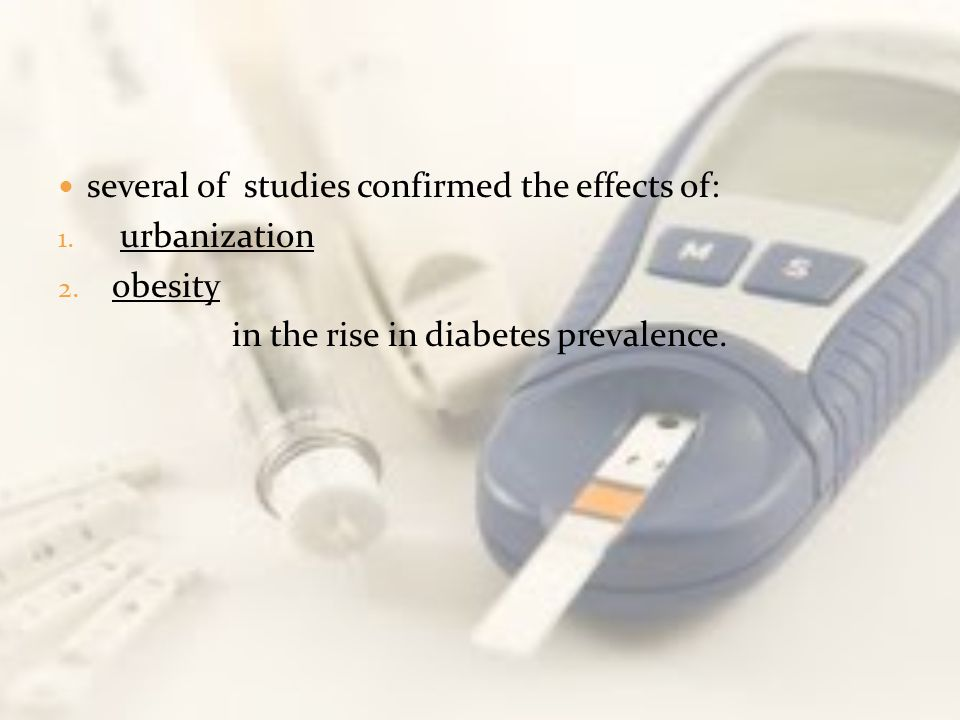 in the rise in diabetes prevalence.