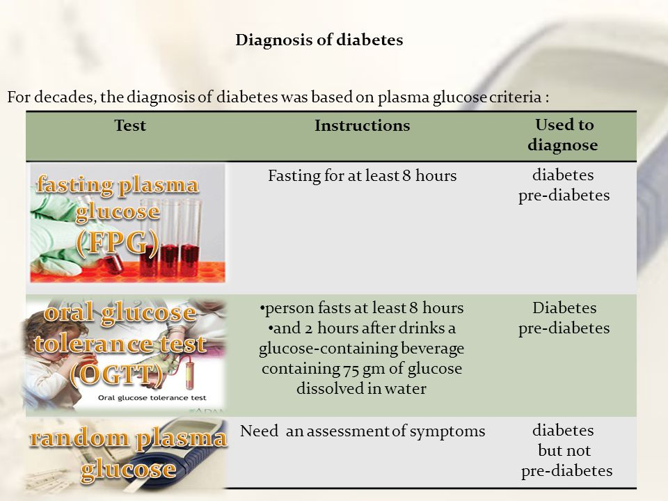 fasting plasma glucose oral glucose tolerance test (OGTT)