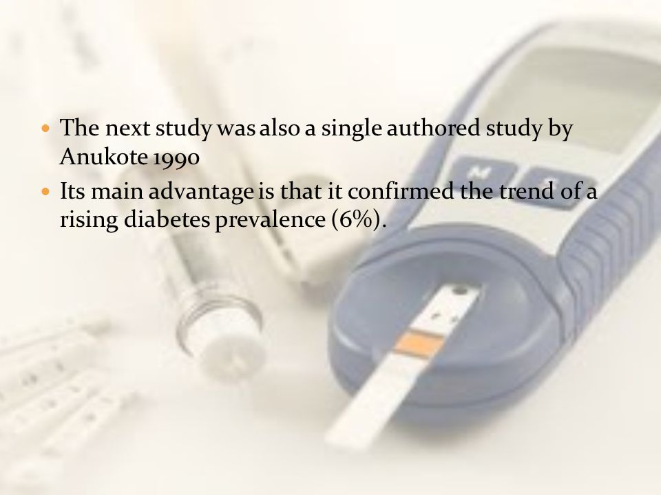 The next study was also a single authored study by Anukote 1990