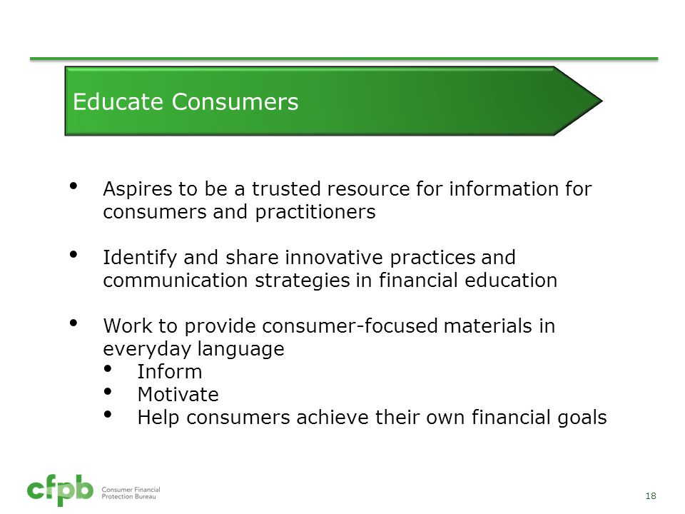 Educate Consumers Aspires to be a trusted resource for information for consumers and practitioners.
