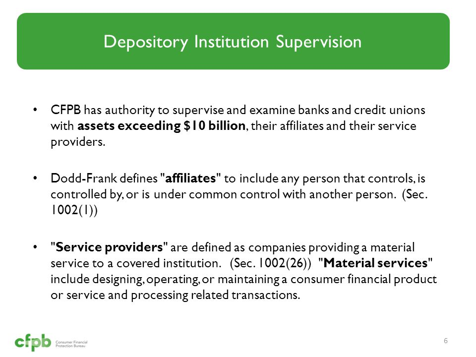 Depository Institution Supervision