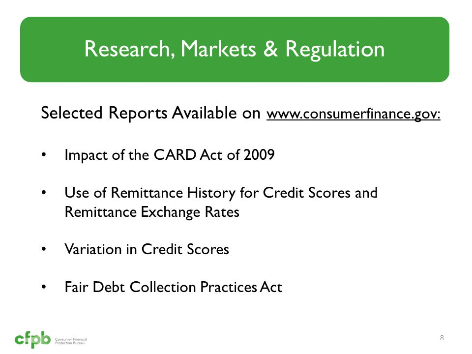 Research, Markets & Regulation