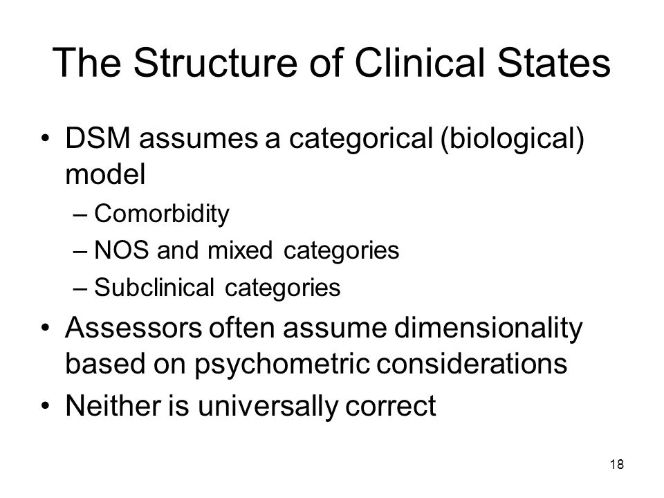 The Structure of Clinical States