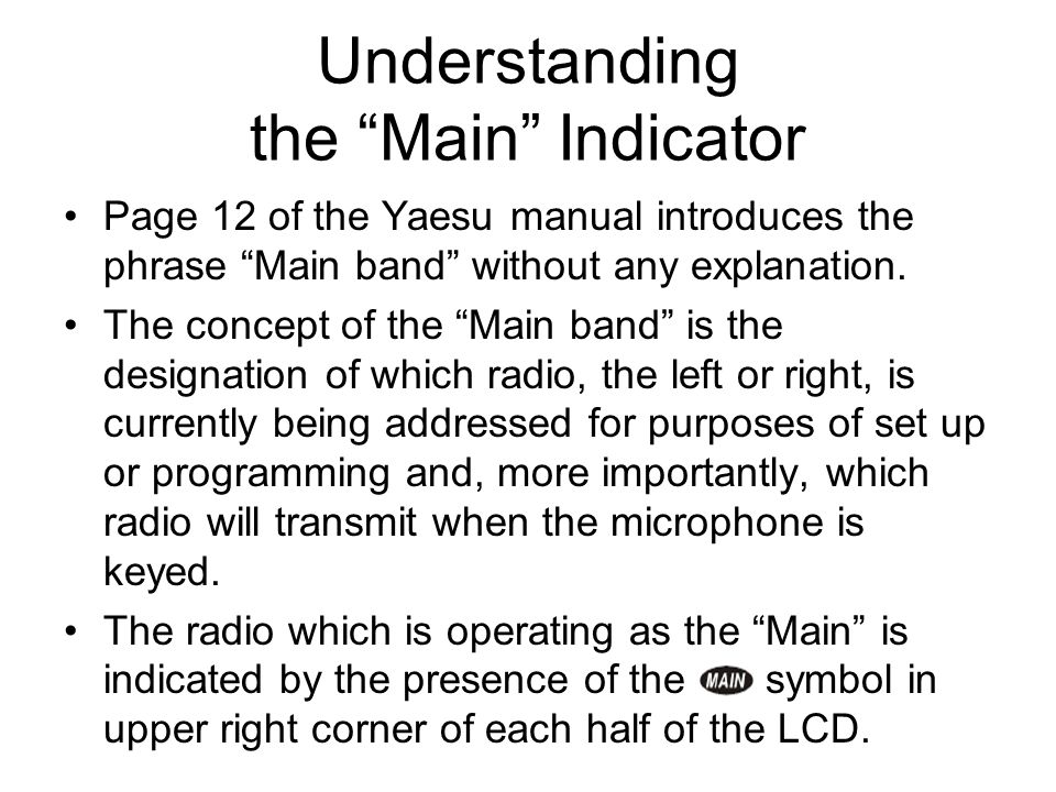 Understanding the Main Indicator