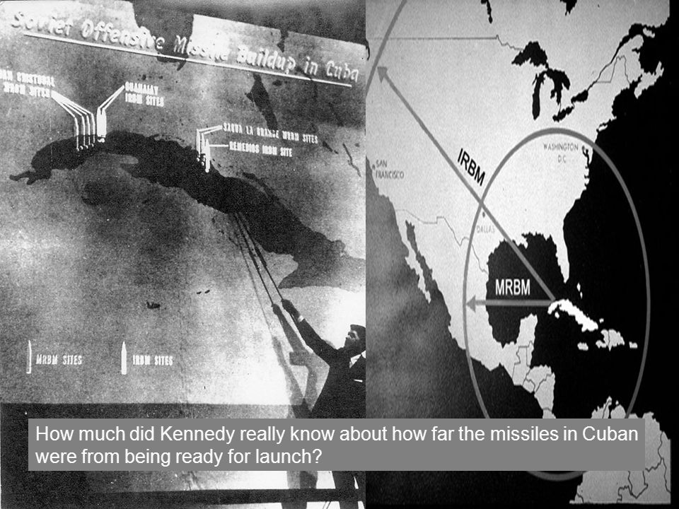 How much did Kennedy really know about how far the missiles in Cuban were from being ready for launch