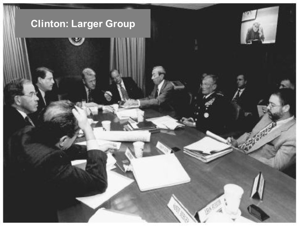 Clinton: Larger Group