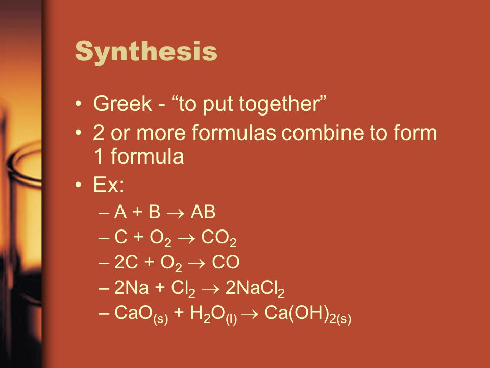 Synthesis Greek - to put together
