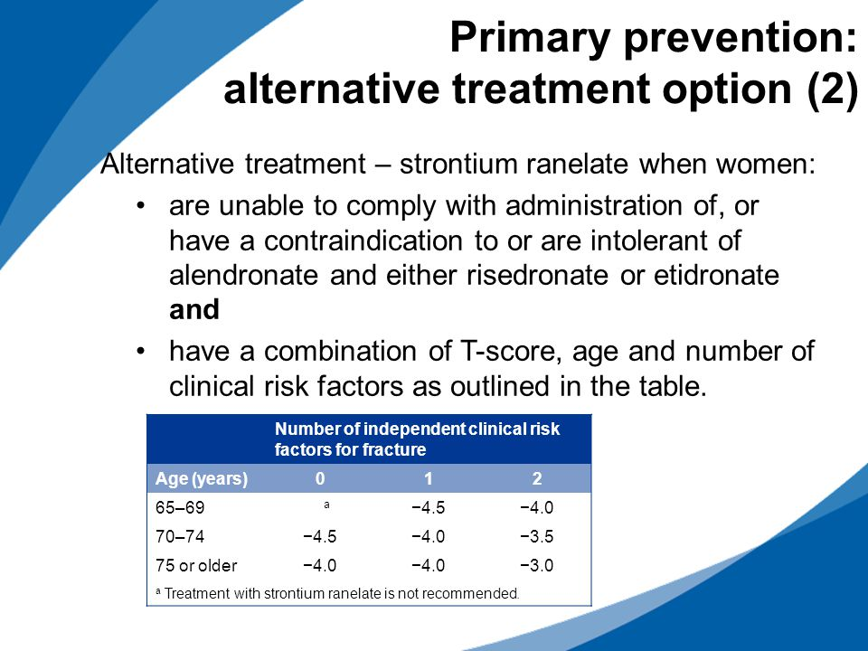Primary prevention: alternative treatment option (2)