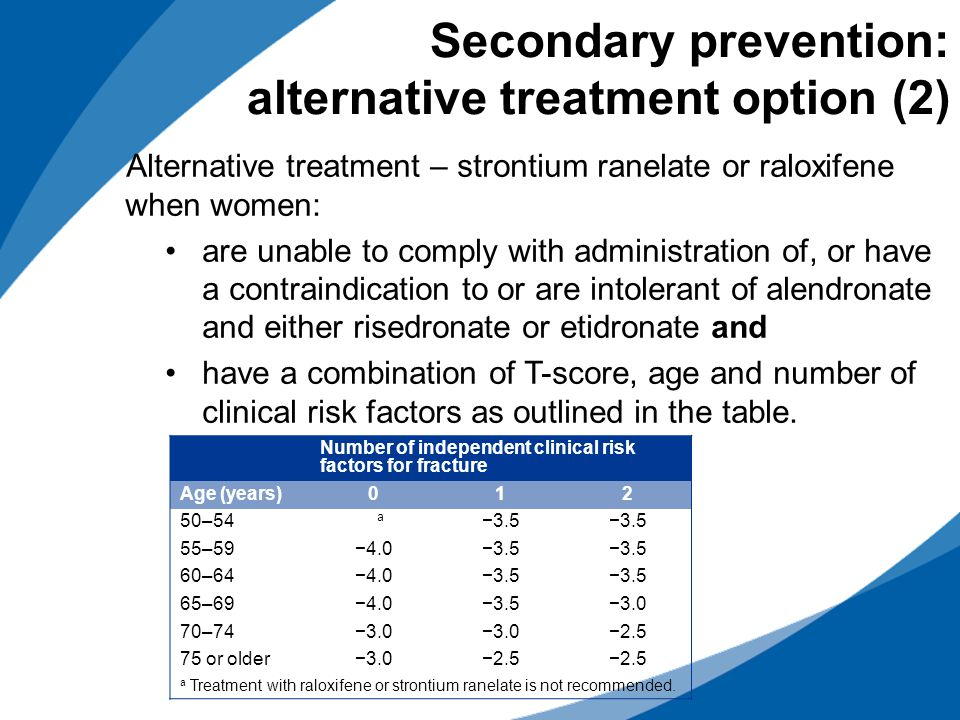 Secondary prevention: alternative treatment option (2)