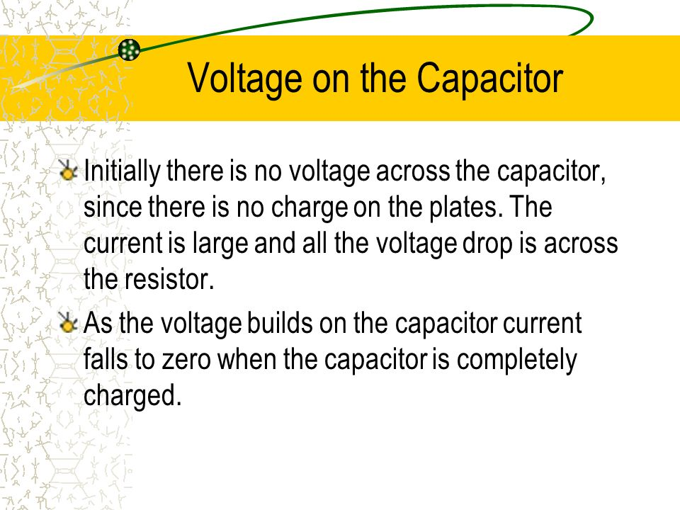 Voltage on the Capacitor