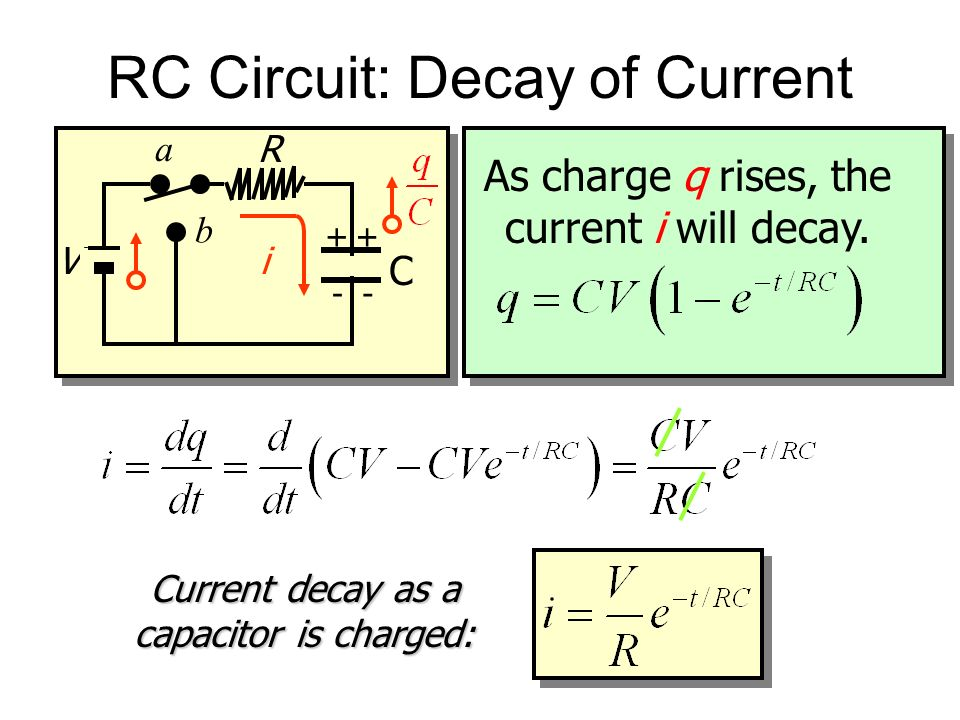 RC Circuit: Decay of Current