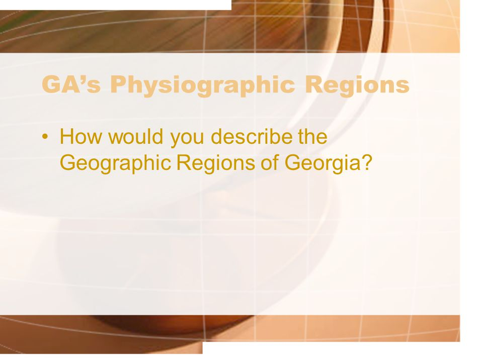 GA's Physiographic Regions