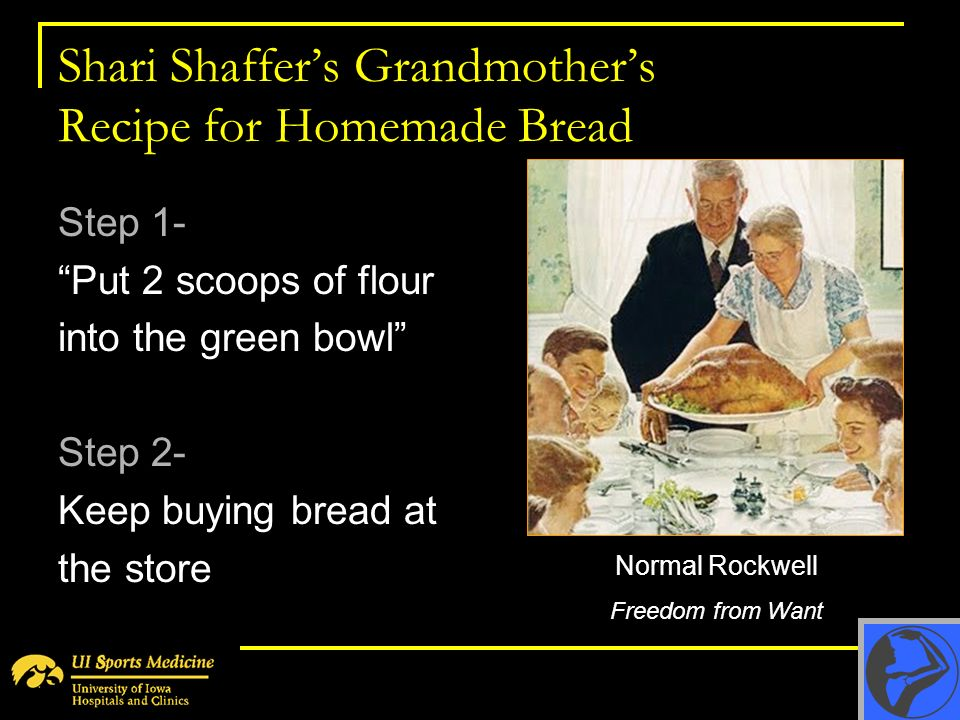 Shari Shaffer's Grandmother's Recipe for Homemade Bread