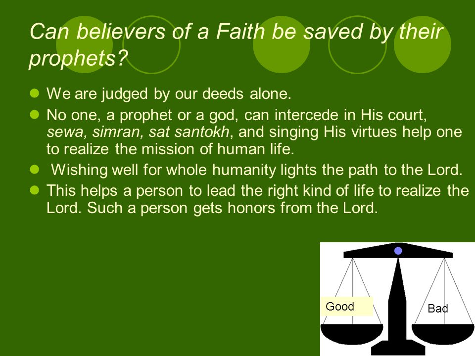 Can believers of a Faith be saved by their prophets