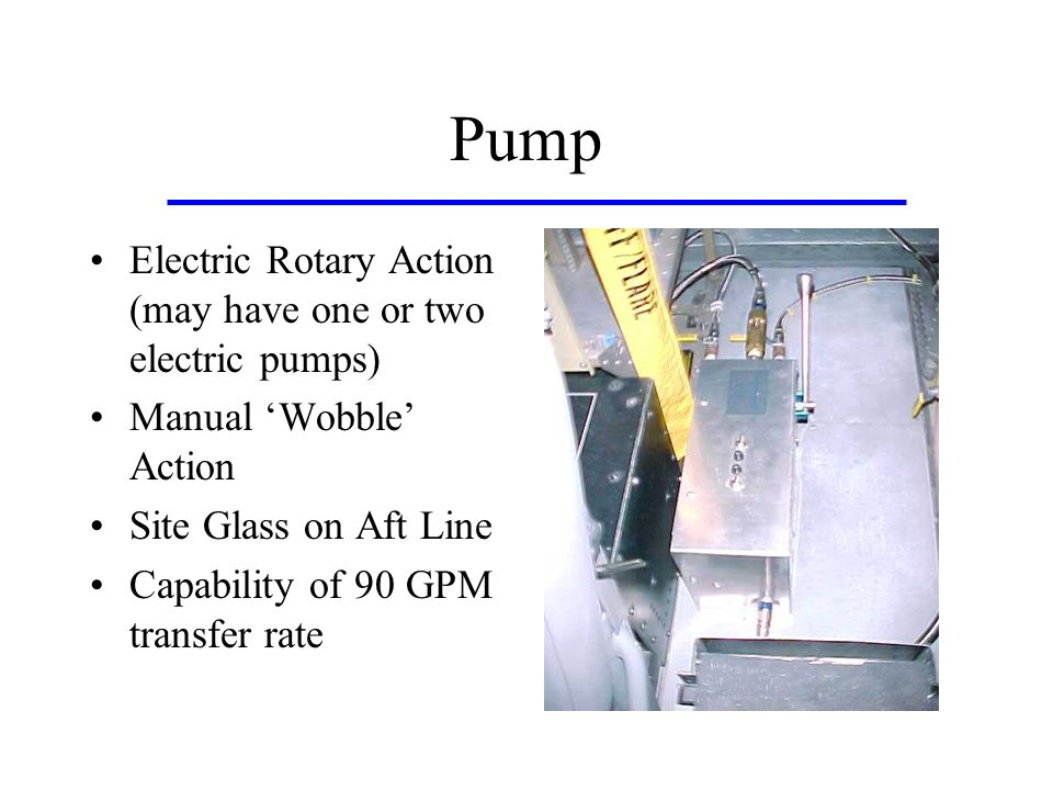 Pump Electric Rotary Action (may have one or two electric pumps)