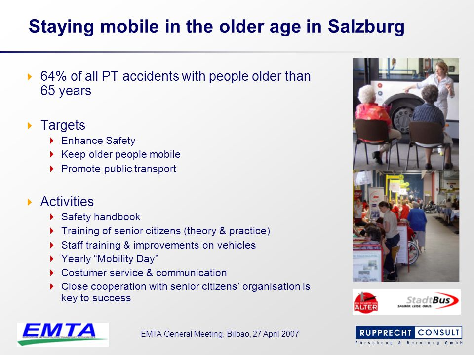 Staying mobile in the older age in Salzburg