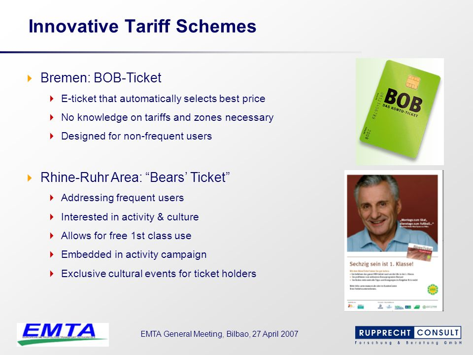 Innovative Tariff Schemes