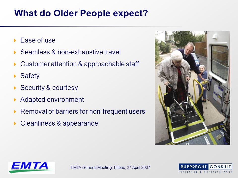 What do Older People expect