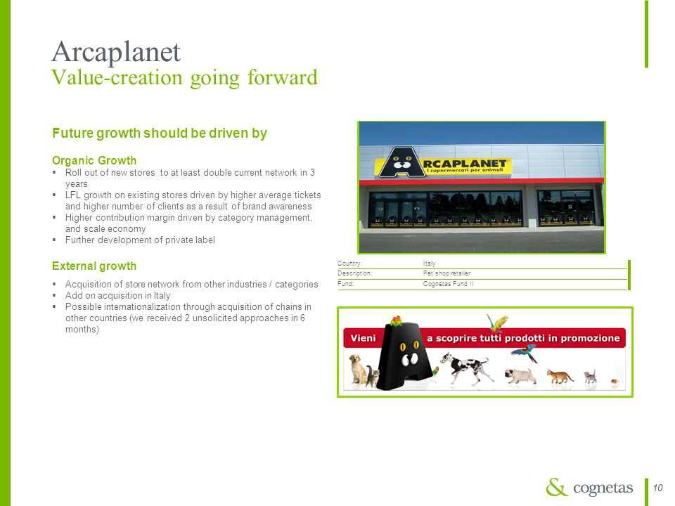 Arcaplanet Value-creation going forward